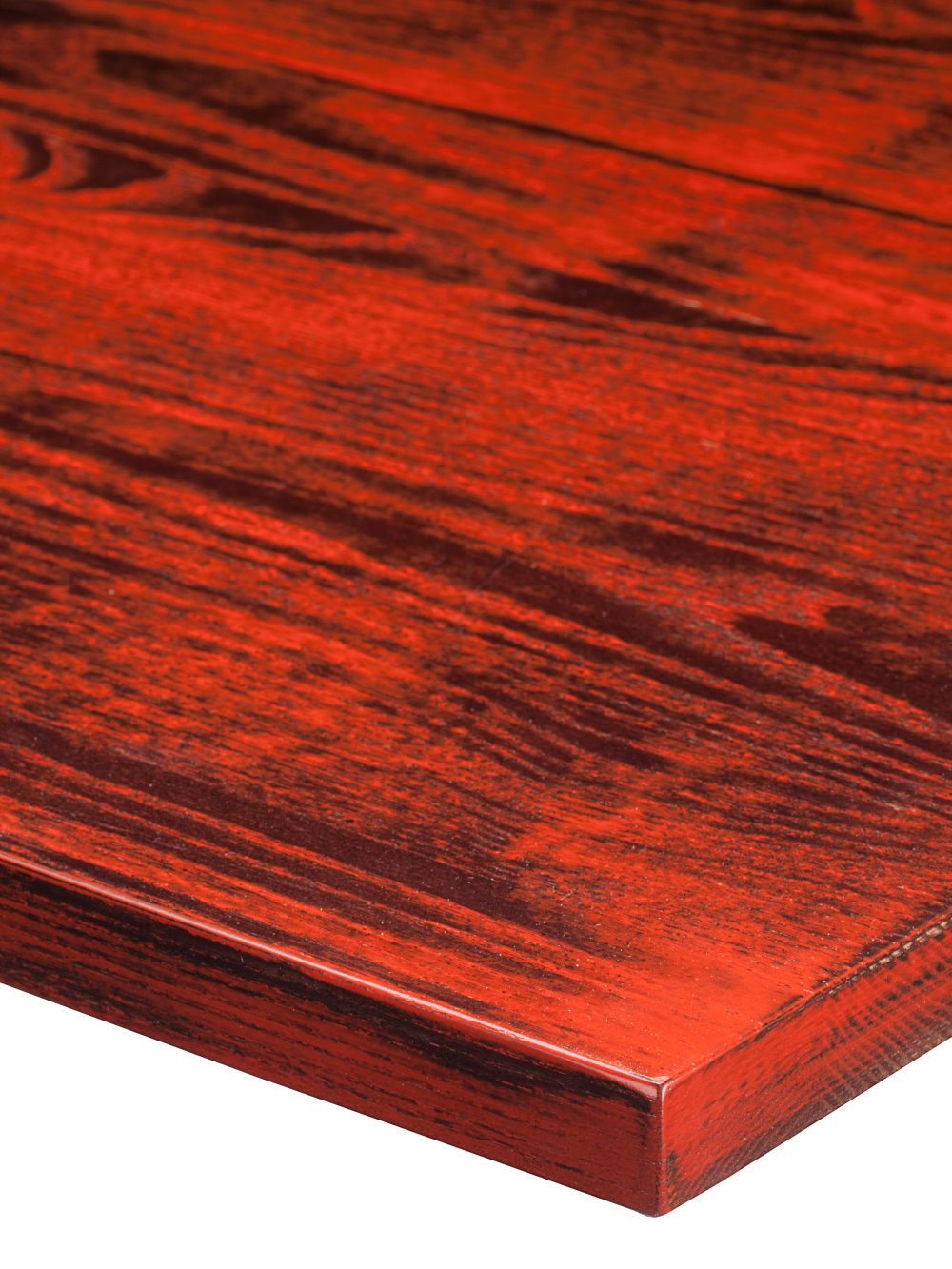 Distressed Walnut RAL 3020 Traffic Red