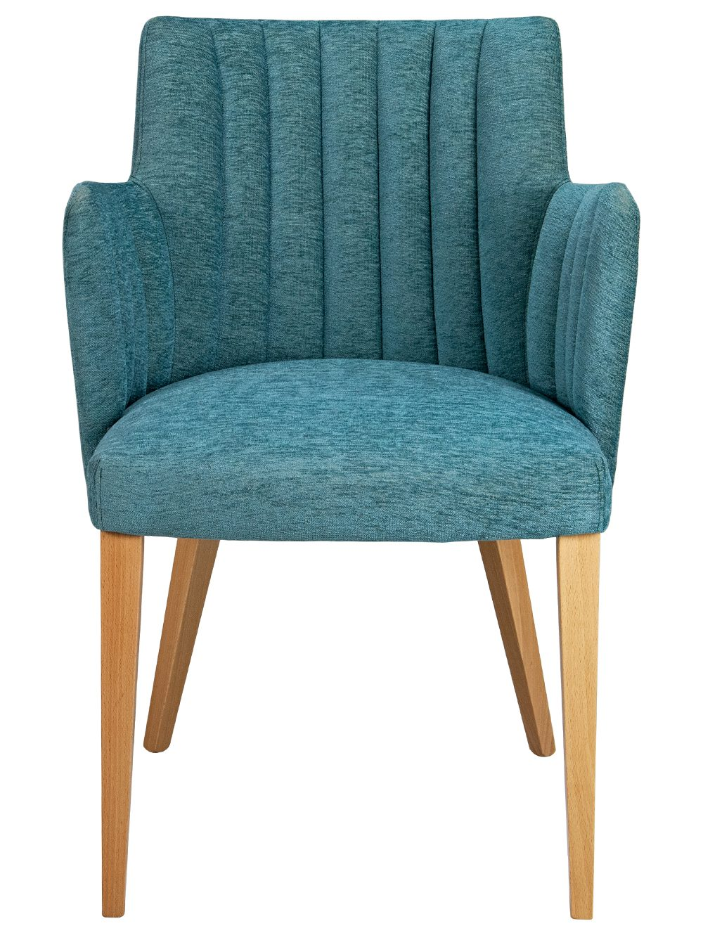 Custom Louvre Arm Chair Blue