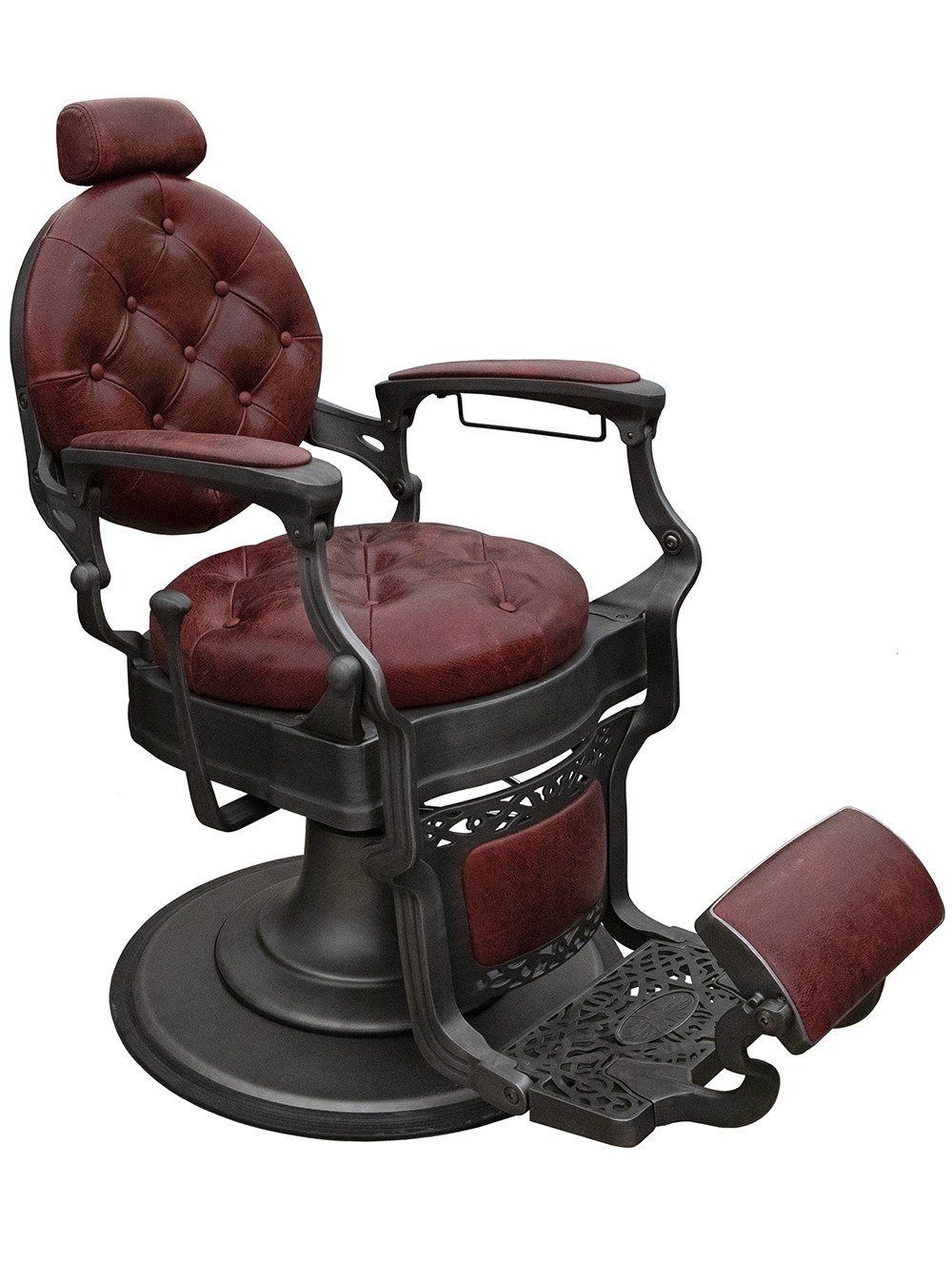 Retro Barber Chair from a 45 degree angle